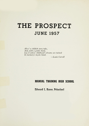 Manual Training High School - Prospect Yearbook (Brooklyn, NY) online yearbook collection, 1957 Edition, Page 3