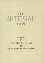 Martinsville High School - Artesian Yearbook (Martinsville, IN) online yearbook collection, 1935 Edition, Page 5