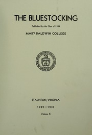 Mary Baldwin College - Bluestocking Yearbook (Staunton, VA) online yearbook collection, 1933 Edition, Page 7