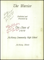 McHenry Community High School - Warrior Yearbook (McHenry, IL) online yearbook collection, 1959 Edition, Page 5