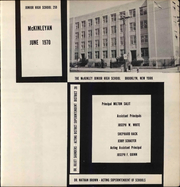 McKinley Junior High School - McKinleyan Yearbook (Brooklyn, NY) online yearbook collection, 1970 Edition, Page 3