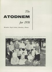 Mendota High School - Atodnem Yearbook (Mendota, IL) online yearbook collection, 1958 Edition, Page 5