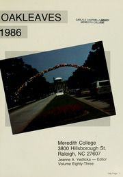 Meredith College - Oak Leaves Yearbook (Raleigh, NC) online yearbook collection, 1986 Edition, Page 5