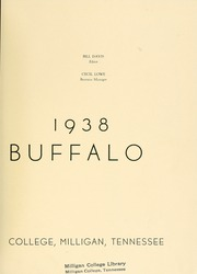 Page 9, 1938 Edition, Milligan College - Buffalo Yearbook (Elizabethton, TN) online yearbook collection