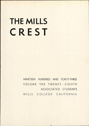 Page 9, 1943 Edition, Mills College - Mills Crest Yearbook (Oakland, CA) online yearbook collection