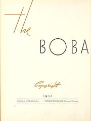 Page 6, 1937 Edition, Millsaps College - Bobashela Yearbook (Jackson, MS) online yearbook collection