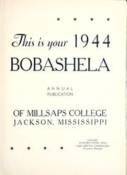 Millsaps College - Bobashela Yearbook (Jackson, MS) online yearbook collection, 1944 Edition, Page 7