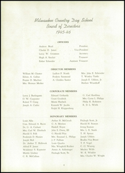 Page 10, 1946 Edition, Milwaukee Country Day School - Arrow Yearbook (Milwaukee, WI) online yearbook collection