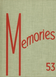 Monticello High School - Memories Yearbook (Monticello, IL) online yearbook collection, 1953 Edition, Cover