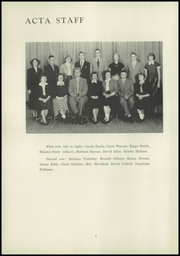 Page 8, 1952 Edition, Montrose High School - Acta Yearbook (Montrose, PA) online yearbook collection