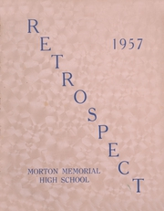 Morton Memorial Schools - Retrospect Yearbook (Knightstown, IN) online yearbook collection, 1957 Edition, Cover