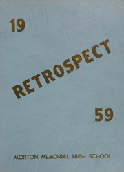 Morton Memorial Schools - Retrospect Yearbook (Knightstown, IN) online yearbook collection, 1959 Edition, Cover