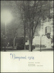 Page 6, 1958 Edition, Mother of Mercy High School - Mercywood Yearbook (Cincinnati, OH) online yearbook collection