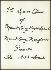 Page 7, 1956 Edition, Mount Airy High School - Torch Yearbook (Mount Airy, MD) online yearbook collection