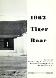 Page 7, 1962 Edition, Mount Pleasant High School - Tiger Roar Yearbook (Mount Pleasant, NC) online yearbook collection