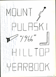 Page 7, 1966 Edition, Mount Pulaski Township High School - Hilltop Yearbook (Mount Pulaski, IL) online yearbook collection