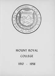 Page 7, 1958 Edition, Mount Royal College - Varshicom Yearbook (Calgary, Alberta Canada) online yearbook collection