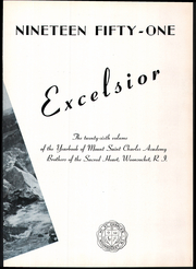 Page 7, 1951 Edition, Mount St Charles Academy - Excelsior Yearbook (Woonsocket, RI) online yearbook collection