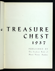 Page 7, 1937 Edition, Mount Vernon Academy - Treasure Chest Yearbook (Mount Vernon, OH) online yearbook collection