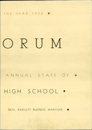 Page 7, 1936 Edition, Mount Vernon High School - Forum Yearbook (Mount Vernon, OH) online yearbook collection