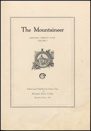 Page 7, 1924 Edition, Mountain Home College - Mountaineer Yearbook (Mountain Home, AR) online yearbook collection
