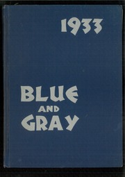 Mountain View Union High School - Blue and Gray Yearbook (Mountain View, CA) online yearbook collection, 1933 Edition, Cover