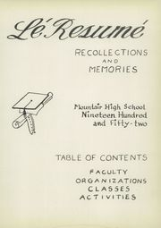 Page 7, 1952 Edition, Mountair High School - Le Resume Yearbook (Lakewood, CO) online yearbook collection