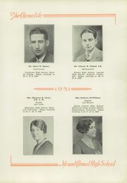 Mount Carmel Area High School - Carmelite Yearbook (Mount Carmel, PA) online yearbook collection, 1931 Edition, Page 11