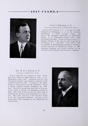 Muhlenberg College - Ciarla Yearbook (Allentown, PA) online yearbook collection, 1917 Edition, Page 22 of 260