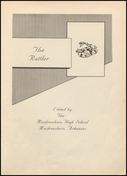 Murfreesboro High School - Rattler Yearbook (Murfreesboro, AR) online yearbook collection, 1955 Edition, Page 5 of 76