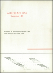 Page 6, 1955 Edition, Muscatine High School - Auroran Yearbook (Muscatine, IA) online yearbook collection