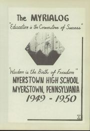 Page 7, 1950 Edition, Myerstown High School - Myrialog Yearbook (Myerstown, PA) online yearbook collection