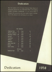 N R Crozier Technical High School - Wolf Pack Yearbook (Dallas, TX) online yearbook collection, 1958 Edition, Page 11 of 208