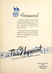 Page 7, 1942 Edition, Nappanee High School - Napanet Yearbook (Nappanee, IN) online yearbook collection
