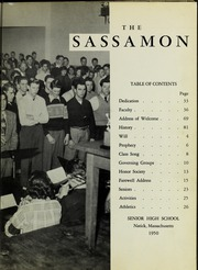 Page 7, 1950 Edition, Natick High School - Sassamon Yearbook (Natick, MA) online yearbook collection