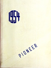 Nebo High School - Pioneer Yearbook (Nebo, NC) online yearbook collection, 1954 Edition, Cover