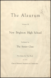 Page 9, 1925 Edition, New Brighton High School - Alaurum Yearbook (New Brighton, PA) online yearbook collection