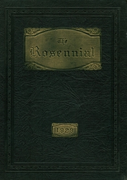 New Castle Chrysler High School - Rosennial Yearbook (New Castle, IN) online yearbook collection, 1929 Edition, Cover