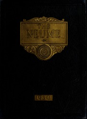 New England Conservatory of Music - Neume Yearbook (Boston, MA) online yearbook collection, 1930 Edition, Cover