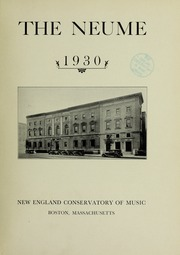 Page 7, 1930 Edition, New England Conservatory of Music - Neume Yearbook (Boston, MA) online yearbook collection