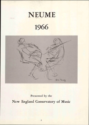 Page 11, 1966 Edition, New England Conservatory of Music - Neume Yearbook (Boston, MA) online yearbook collection