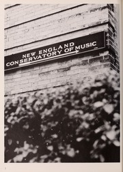 New England Conservatory of Music - Neume Yearbook (Boston, MA) online yearbook collection, 1971 Edition, Page 6 of 120