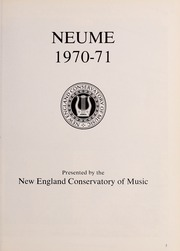 New England Conservatory of Music - Neume Yearbook (Boston, MA) online yearbook collection, 1971 Edition, Page 7