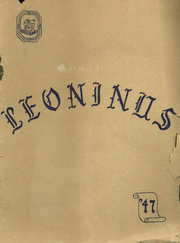 New Holland High School - Leoninus Yearbook (New Holland, PA) online yearbook collection, 1941 Edition, Cover