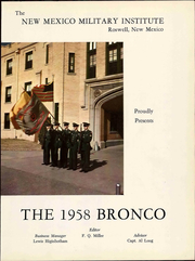 New Mexico Military Institute - Bronco Yearbook (Roswell, NM) online yearbook collection, 1958 Edition, Page 7 of 268