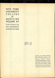 Page 8, 1939 Edition, New York University School of Medicine - Medical Yearbook (New York, NY) online yearbook collection