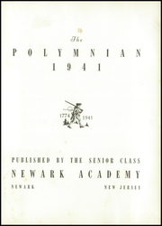 Page 7, 1941 Edition, Newark Academy - Polymnian Yearbook (Livingston, NJ) online yearbook collection