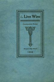 Newport High School - Live Wire Yearbook (Newport, ME) online yearbook collection, 1936 Edition, Cover