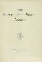Page 7, 1910 Edition, Newton High School - Newtonian Yearbook (Newton, MA) online yearbook collection