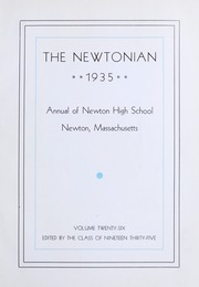 Page 7, 1935 Edition, Newton High School - Newtonian Yearbook (Newton, MA) online yearbook collection